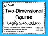 Math - 5th Grade Two-Dimensional Figures Tasks and Activities