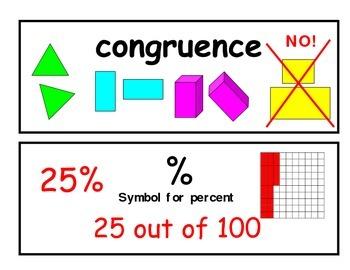 Math 5th Grade Vocabulary Cards
