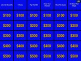 Middle/Math 7 Review Game Jeopardy SOL Remediation w/ Soun