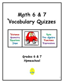 Math 6 & 7 Vocabulary Quizzes