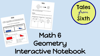 Math 6 - Geometry Interactive Notebook