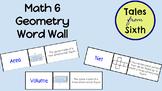 Math 6 - Geometry Word Wall