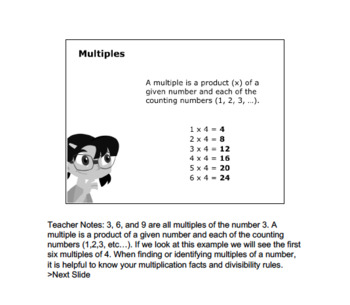 Math 6:Decimals,Fractions&Rational Numbers:L2:Multiples Whole Numbers 6.NS.B.2&4