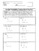 Math 6 Probability Unit Bundle