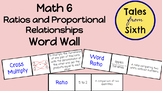 Math 6 - Ratios and Proportional Relationships Word Wall