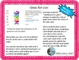 Math 6 SOL Review Jenga Math Game Task Card Remediation Pa