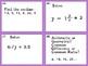 Math 6 SOL Review Game Jenga Task Card Remediation fun! Middle School