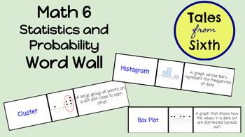 Math 6 - Statistics and Probability Word Wall