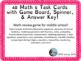 Math 6 Task Card Review Game for SOL & Remediation! Board Game Fun!