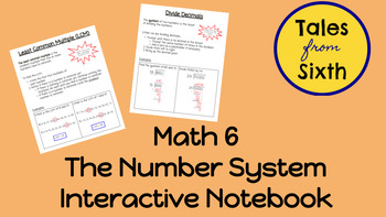 Math 6 - The Number System Interactive Notebook