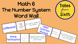 Math 6 - The Number System Word Wall