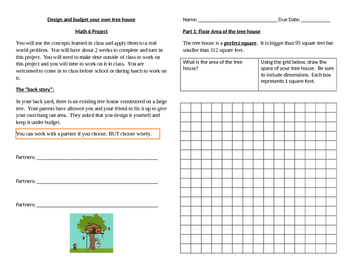 Math 6 Tree House Project