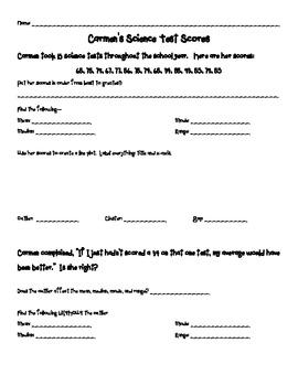 Math - 6th  grade histogram, line plot, box & whisker review CCSS