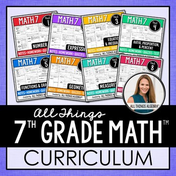 Math 7 Curriculum by All Things Algebra | Teachers Pay ...