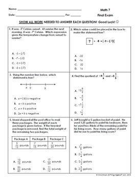 Math 7 Final Exam