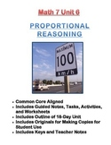 Math 7 Unit Bundle: Proportional Reasoning