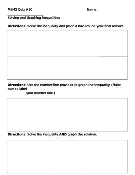 Math 7 Quiz 10