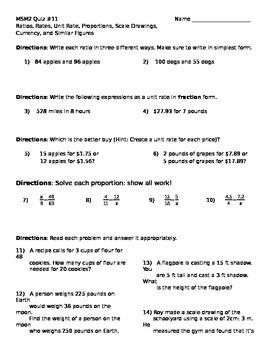 Math 7 Quiz 11