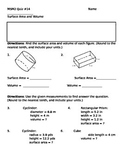 Math 7 Quiz 14