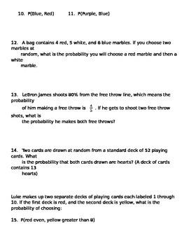 Math 7 Quiz 18