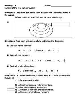 Math 7 Quiz 7