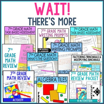 7th Grade Math Resources and Activities Bundle