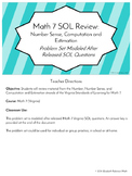 Math 7 SOL Review - Number and Number Sense, Computation and Estimation