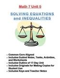Math 7 Unit Bundle: Solving Equations and Inequalities (Pre-Algebra)