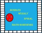 Math 7 Spiral Homework Bundle