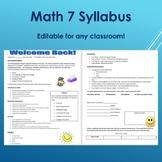 Math 7 Syllabus