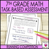 7th Grade Math Test Prep Review : Task-Based Assessment 2