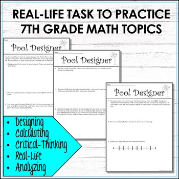 7th Grade Math Task-Based Assessment Prisms Taxes and Inequalities
