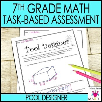 7th Grade Math Test Prep Review : Task-Based Assessment 1