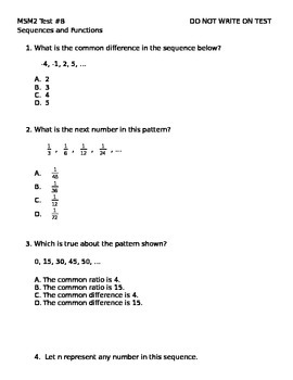 Math 7 Test 8