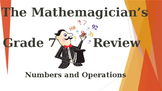 Math 7 - Unit 1 Review Game - Numbers & Operations