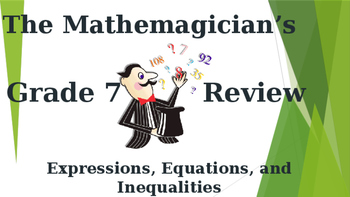 Math 7 - Unit 2 Review Game - Expressions, Equations, & Inequalities