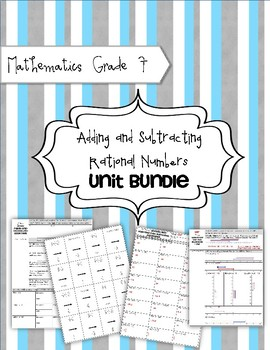 Math 7 Unit Bundle: Adding and Subtracting Rational Numbers