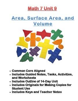 Math 7 Unit Bundle: Area, Surface Area, and Volume