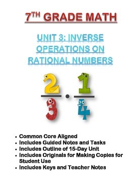 Math 7 Unit: Inverse Operations on Rational Numbers