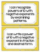 """Math 7: Virginia SOL """"I Can"""" Statements"""