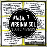 "2016 Math 7 Virginia SOL: ""I Can"" Statements"