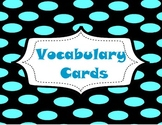 Math 7 Vocabulary Cards for a Word Wall