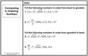 Math 7 Warm-Ups