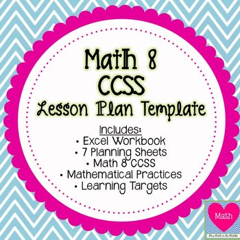Math 8 Common Core State Standards Lesson Plan Template
