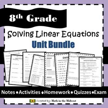 8th Grade Math Common Core Bundle ENTIRE YEAR {EDITABLE} Math 8 Curriculum