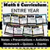 8th Grade Math Common Core ENTIRE YEAR {EDITABLE} Math 8 Curriculum