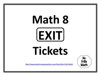 Math 8 Exit Tickets