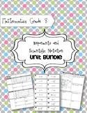 Math 8: Exponents and Scientific Notation Unit Bundle