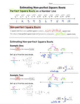 Math 8 Guided Interactive Math Notebook (Bundle): Exponents, Roots, Real Numbers