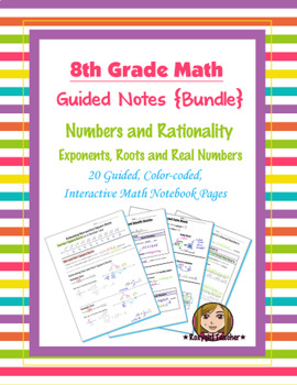 Math 8 Guided Interactive Math Notebook (Bundle): Exponent